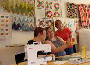 Quilting class in session