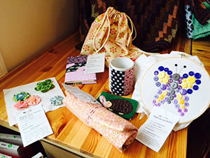 Items that will be made in sewing class for kids