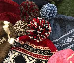 Knitting and sewing for foster kids