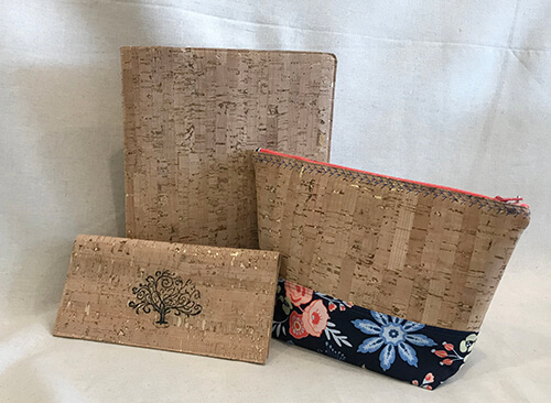 Projects made out of cork fabric