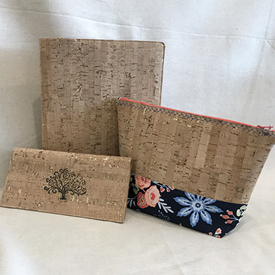 Projects made with cork fabric