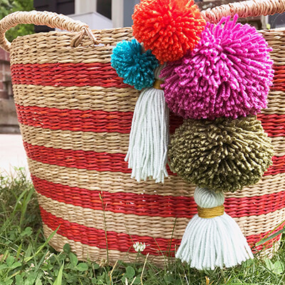 Make a pom-pom, Friday, June 20