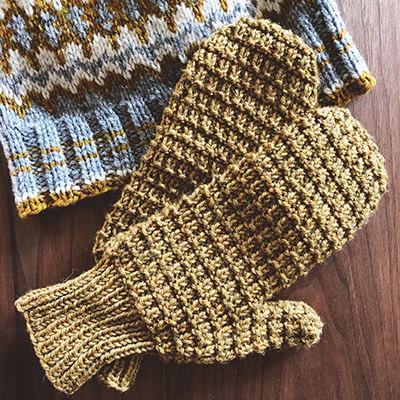 Knit-along mittens