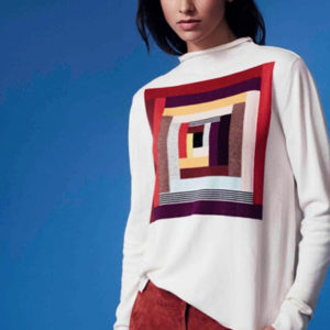 Learn intarsia technique for knitting