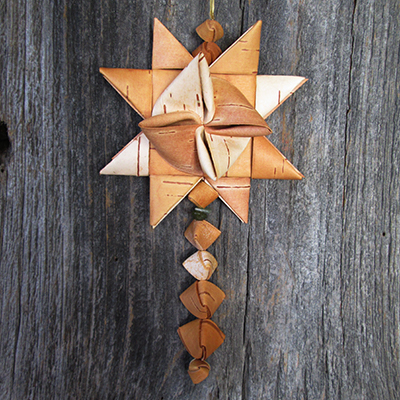 Birch star ornament that will be made in class