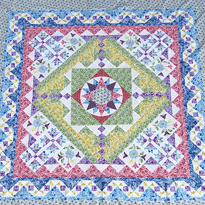 Spring Bloom quilt with Sandy