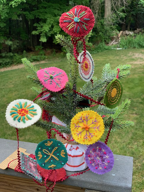Embroidery class-Christmas in July