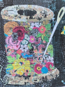 Collage class: Spools of Flowers
